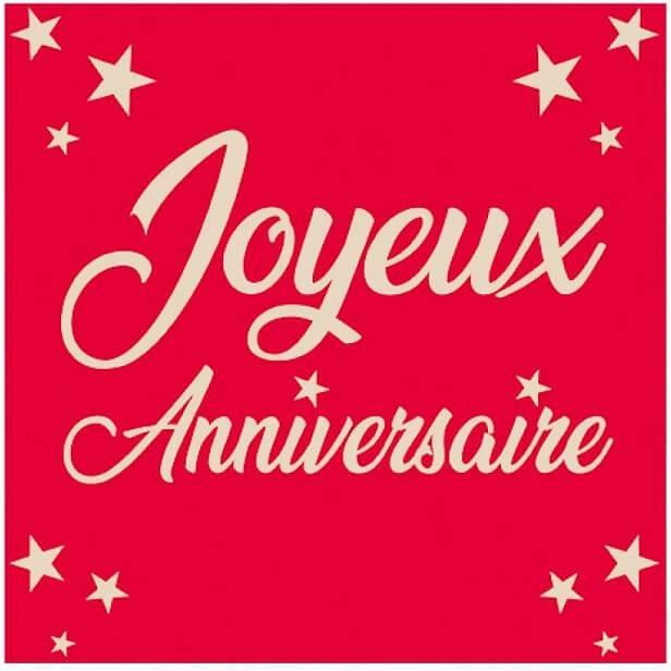 Serviette de table joyeux anniversaire rouge en papier 2