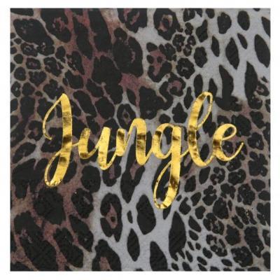 Serviette de table Jungle avec motif Léopard (x20) REF/6883