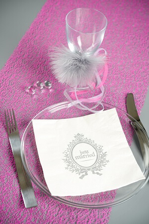 Serviette de table just married 1