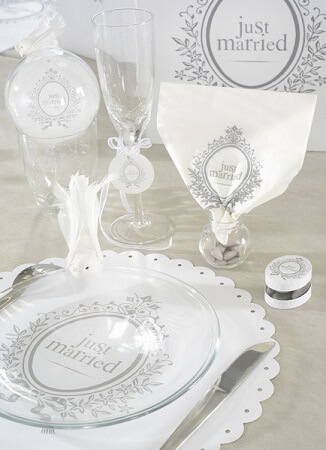 Serviette de table just married 2