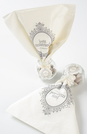 Serviette de table just married 3