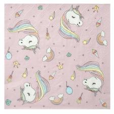 Serviette de table licorne rose (x20) REF/6243