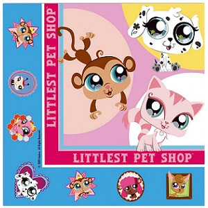 Serviette de table little petshop