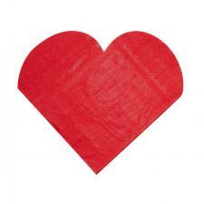 Serviette de table mariage coeur rouge (x20) REF/3050
