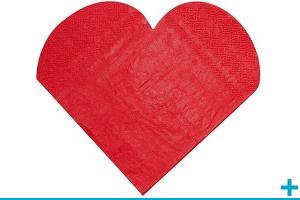 Serviette de table mariage et st valentin