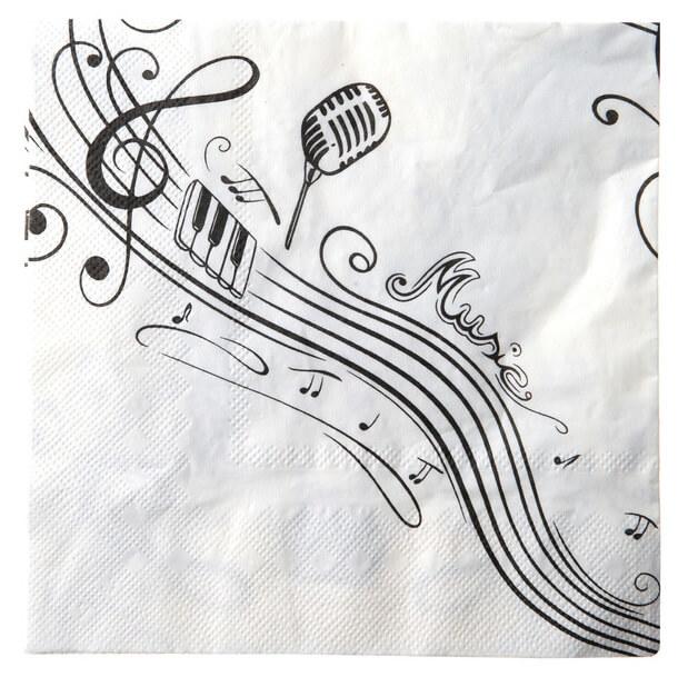 Serviette de table musique 1