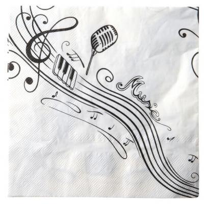 Serviette de table musique (x20) REF/70086