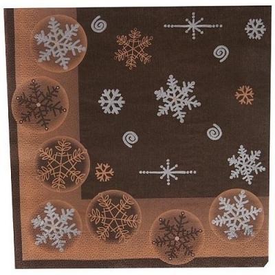 Serviette de table Noël: Cristaux (x50) REF/8588