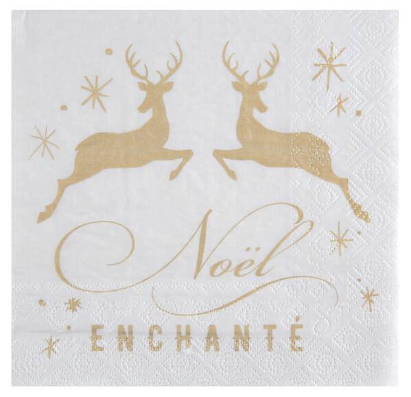Serviette de table noel enchante