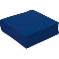 Serviette de table ouate cellulose micro gaufree bleu marine
