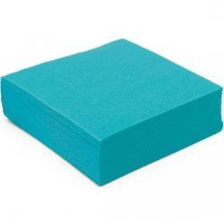 Serviette de table ouate cellulose micro gaufree bleu turquoise