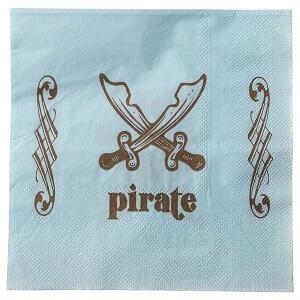 Serviette de table pirate