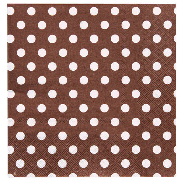 Serviette de table pois chocolat 1