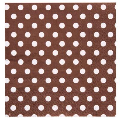 Serviette de table pois chocolat (x20) REF/3051