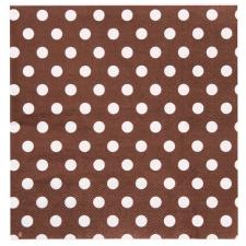 Serviette de table pois chocolat (x20) REF/3051