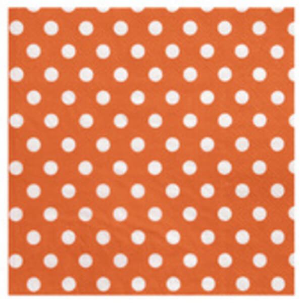 Serviette de table pois orange