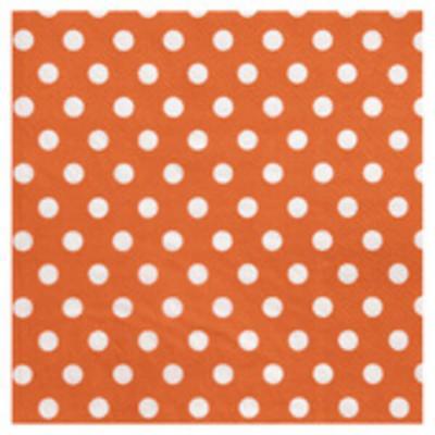 Serviette de table pois orange (x20) REF/3051