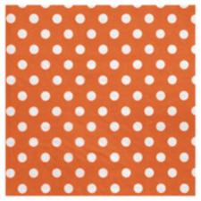Serviette de table pois orange (x20) REF/3051