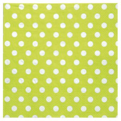 Serviette de table pois verte (x20) REF/3051