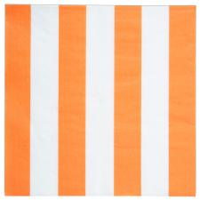 Serviette de table rayée orange (x20) REF/4072