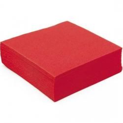 Serviette de table rouge micro gaufree 1