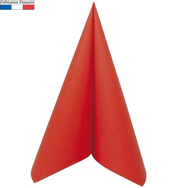 Serviette de table rouge voie seche