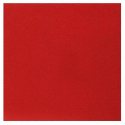 Serviette de table Airlaid rouge (x25) REF/6808