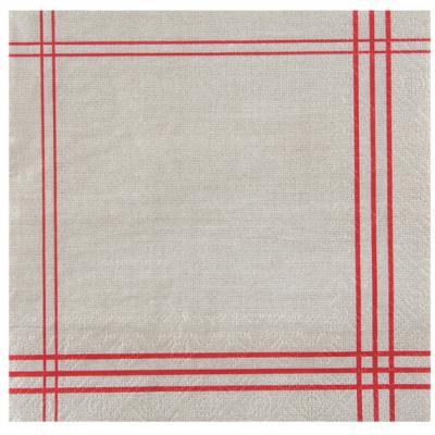 Serviette de table tradition rouge (x20) REF/5719