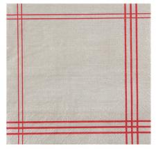 Serviette de table tradition rouge (x20) REF/5719
