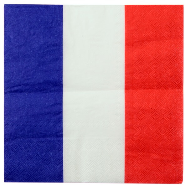 Serviette de table tricolore france