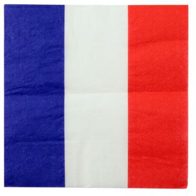 Serviette de table tricolore France (x20) REF/4167