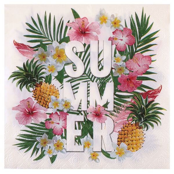 Serviette de table tropical 1