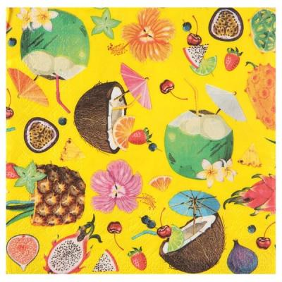 Serviette de table tropicale cocktail (x20) REF/6350