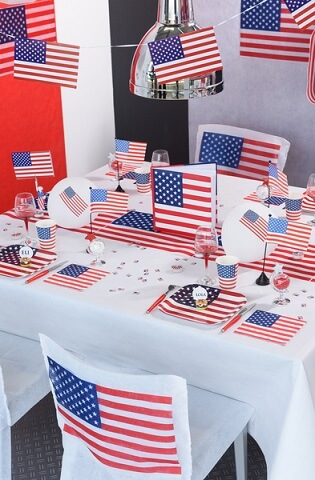 Serviette de table usa 1