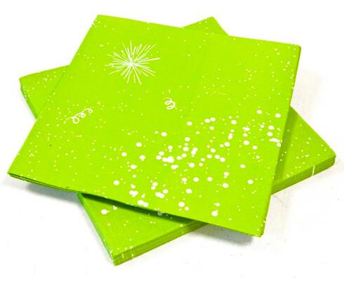 Serviette de table vert menthe
