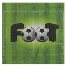 Serviette de table verte foot en papier 3 plis (x20) REF/6870