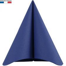 Serviette de table voie seche bleu marine