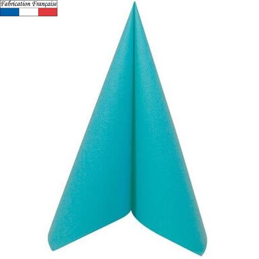 Serviette de table voie seche bleu turquoise 1