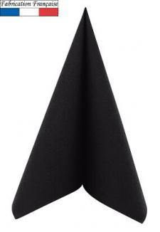 Serviette de table voie sèche noire (x50) REF/8113