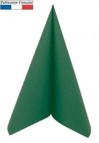 Serviette de table voie seche vert sapin