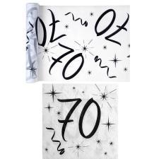 1 Pack serviette et chemin de table anniversaire 70ans blanc et noir R/5192-5241