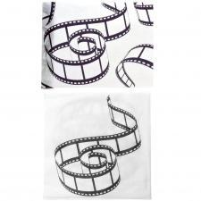 1 Pack serviette et chemin de table cinéma noir et blanc R/3850-3608