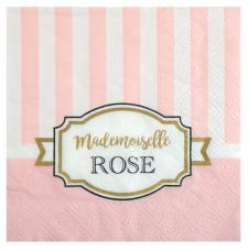 Serviette cocktail rose baby shower (x20) REF/5733