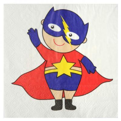Serviette de table anniversaire super héros (x20) REF/5166