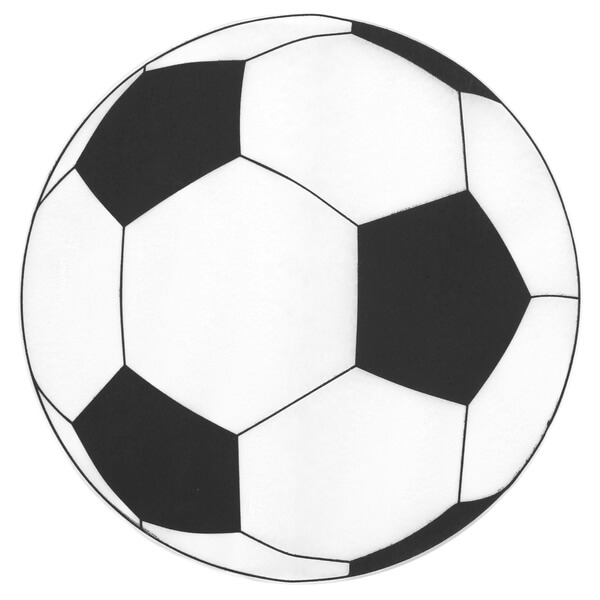 Set de table ballon de football noir et blanc