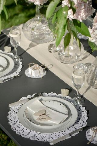 Set de table blanc dentelle 1