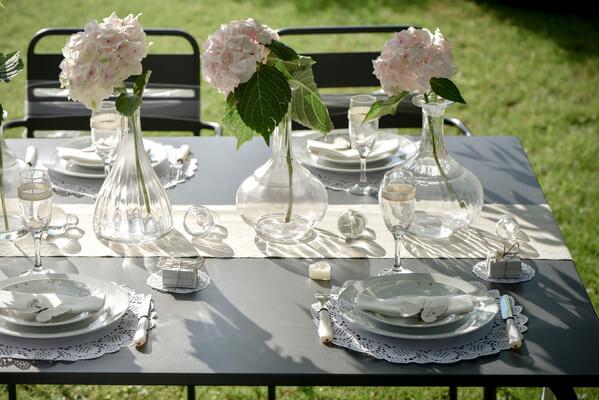 Set de table blanc dentelle