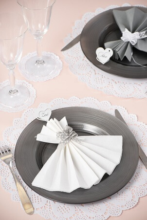 Set de table dentelle blanc 1