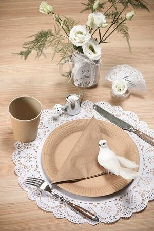 Set de table dentelle blanc 3