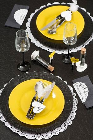 Set de table dentelle blanc 4